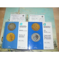 Schweizerischer Bankverein  Coins of Sweden. Part I: 1512 - 1697. Part II: 1697 - 1988. Complete set.