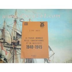 NP 51 De Mey, -Le papier Monnaie Belge conventionnel et de necessite 1940-1945 Numismatic pocket