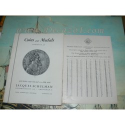 Schulman, Jacques. Amsterdam. 1956- 01(226) - VALUABLE COLLECTION OF COINS AND MEDALS