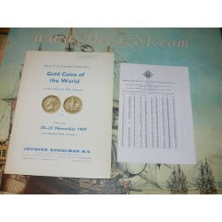 Schulman, Jacques. Amsterdam. 1967-11 (246) - The A. C. R. Dreesmann Collection. Gold Coins of the World