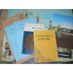 6 Boeken over diverse Nederlandse muntvondsten: v Gelder, A, Pol, Rethaan Macaré,Jacobi, van der Vin.