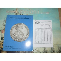 Sotheby's London. 1996-04.RUSSIAN COINS FROM THE FUCHS COLLECTION I. Coins Medals and Banknotes