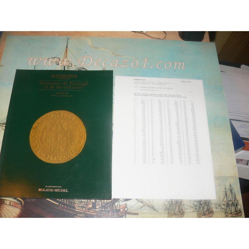 SOTHEBY'S, Geneva 1986-11 Monnaies de Portugal et de ses colonies.