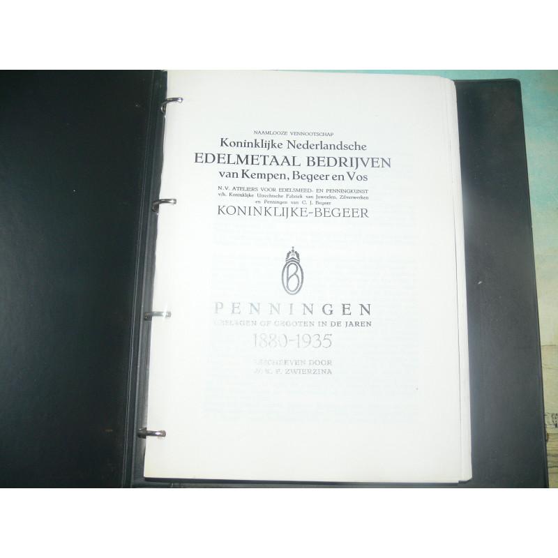Zwierzina. - Penningen geslagen of gegoten in de jaren 1880-1935. Koninklijke Begeer. Copy