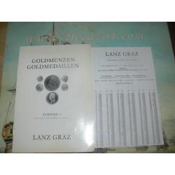 Lanz, Graz, Austria. 1972-12  Auktion I Goldmünzen, Goldmedaillen. Antike und Neuzeit