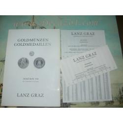 Lanz, Graz, Austria. 1976-10 Auktion VII Goldmünzen, Goldmedaillen. Gold coins, gold medals.