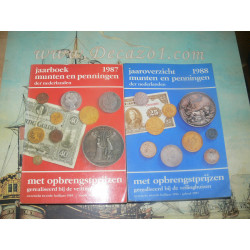Stuurman.- 1987 + 1988 Jaarboeken munten en penningen der Nederlanden. Met opbrengstprijzen gerealiseerd bij de veinghuizen