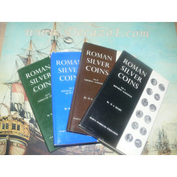 set-of-the-4-publications-on-roman-silver-coins-by-ha-seaby-volumes-1-4-1967-1970