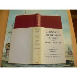 Mattingly, Harold: COINS OF THE ROMAN EMPIRE IN THE BRITISH MUSEUM. VOLUME II: VESPASIAN TO DOMITIAN 1966 Edition