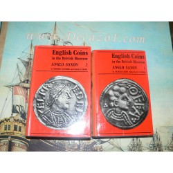 Grueber &  Keary.: English Coins in the British Museum, ANGLO SAXON. Complete 2 volumes set.