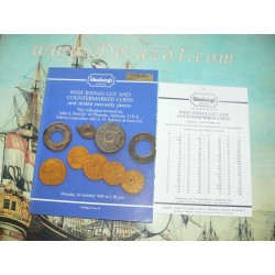 Glendining 1989-10-16:  Collection John J. Ford Jr. West Indian Cut and Counterstamped Coins and similar necessity pieces.